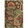 "Global Awakening ""Imperial Dress"" Chocolate Area Rug"