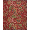 "Global Awakening ""Imperial Dress"" Garnet Area Rug"