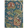 "Global Awakening ""Imperial Dress"" Sapphire Area Rug"