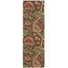 "Nourison Wav03 Global Awakening Runner Rug  By Nourison, Chocolate, 2'6"" X 8'"