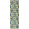 "Nourison Wav16 Treasures Runner Rug  By Nourison, Blue Jay, 2'6"" X 8'"