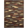 "Expressions Rectangle Rug By, Chocolate, 7'9"" X 10'10"""