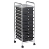 MOBILE ORGANIZER 10 DRAWER SINGLE WIDE SMOKE GRAY