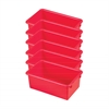 ECR4Kids Stack & Store Tub without Lid - Red, set of 6
