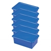ECR4Kids Stack & Store Tub with Lid - Blue, set of 6