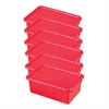 ECR4Kids Stack & Store Tub with Lid - Red, set of 6