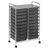 20 Drawer Mobile Organizer - Smoke