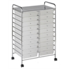 MOBILE ORGANIZER 20 DRAWER DOUBLE WIDE WHITE