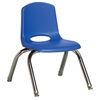 "ECR4Kids 10"" Stack Chair - Chrome Legs - BLG, set of 6"
