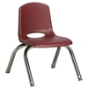 "ECR4Kids 10"" Stack Chair - Chrome Legs - BYG, set of 6"