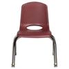 """10"""" Stack Chair - Chrome Legs - BYG, set of 6"""
