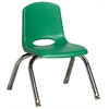 "10"" Stack Chair - Chrome Legs - GNG, set of 6"