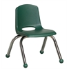 "ECR4Kids 10"" Stack Chair - Chrome Legs - HG, set of 6"