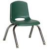 "10"" Stack Chair - Chrome Legs - HGG, set of 6"