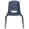 "10"" Stack Chair - Chrome Legs - NVG, set of 6"