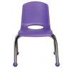 "ECR4Kids 10"" Stack Chair - Chrome Legs - PU, set of 6"