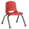 "ECR4Kids 10"" Stack Chair - Chrome Legs - RD, set of 6"