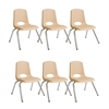"10"" Stack Chair - Chrome Legs - SDG, set of 6"