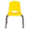 "10"" Stack Chair - Chrome Legs - YEG, set of 6"