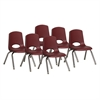 "ECR4Kids 12"" Stack Chair - Chrome Legs - BYG, set of 6"