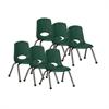 """ECR4Kids 12"""" Stack Chair - Chrome Legs - HG, set of 6"""
