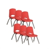 "12"" Stack Chair - Chrome Legs - RDG, set of 6"