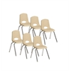 "12"" Stack Chair - Chrome Legs - SDG, set of 6"