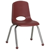 "ECR4Kids 14"" Stack Chair - Chrome Legs - BY, set of 6"