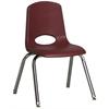 """ECR4Kids 14"""" Stack Chair - Chrome Legs - BYG, set of 6"""