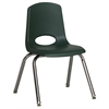 """14"""" Stack Chair - Chrome Legs - HGG, set of 6"""