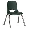 """ECR4Kids 14"""" Stack Chair - Chrome Legs - HGG, set of 6"""