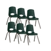 "14"" Stack Chair - Chrome Legs - HGG, set of 6"