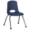 """14"""" Stack Chair - Chrome Legs - NV, set of 6"""