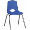 "ECR4Kids 16"" Stack Chair - Chrome Legs - BLG, set of 6"
