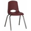 """ECR4Kids 16"""" Stack Chair - Chrome Legs - BYG, set of 6"""