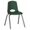 "ECR4Kids 16"" Stack Chair - Chrome Legs - GNG, set of 6"