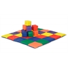 ECR4Kids SoftZone® Patchwork Toddler Mat & 12Pc Blocks