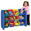 3-Tier Storage Organizer, Blue, Assorted Bins