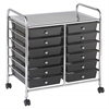 MOBILE ORGANIZER 12 DRAWER SMOKE GRAY
