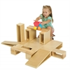 Wooden Hollow Blocks, 18-Piece Set
