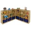 "ECR4Kids Birch 36"" Fold and Lock Cabinet - 8 Comp"