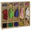 Birch 5-Section Straight Coat Locker