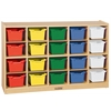 Birch 20 Cubby Tray Cabinet w/ Assorted Bins
