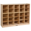 Birch 25 Cubby Tray Cabinet