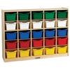 Birch 25 Cubby Tray Cabinet w/ Assorted Bins