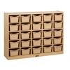 Birch 25 Cubby Tray Cabinet w/ Sand Bins