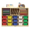 Multi-Section Storage Cabinet w/ 15 Bins - AS