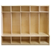 Birch 5-Section Coat Locker with Bench