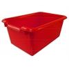 Scoop Front Storage Bins - Red, set of 10