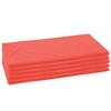 ECR4Kids 5-Piece Rainbow Rest Mat Set - Red